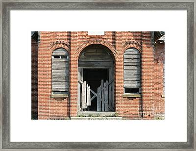 Spooky Schoolhouse Framed Print by Judy Whitton