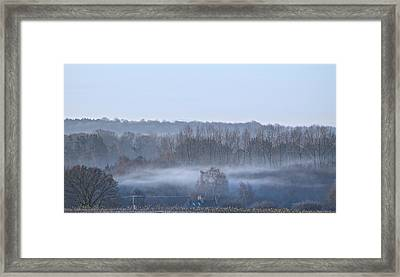 Spooky Winters Morning Framed Print by Karen Grist