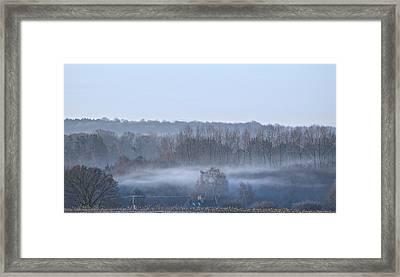 Spooky Winters Morning Framed Print by Karen Grist