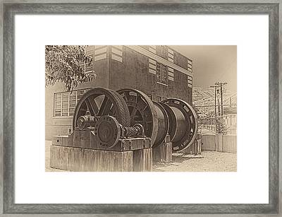Spools And Gears Framed Print