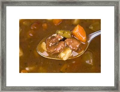 Spoon Full Of Soup  Framed Print by Joe Belanger