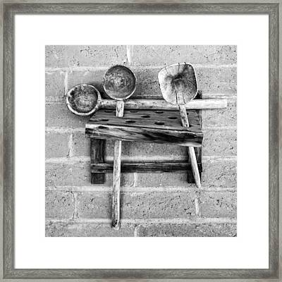 Framed Print featuring the photograph Spoon Rack by Beverly Parks