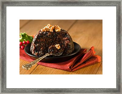 Spoonful Of Christmas Pudding Framed Print