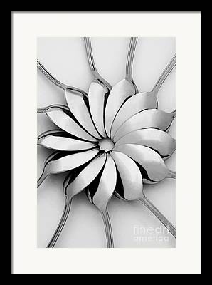 Monochrome Digital Art Framed Prints