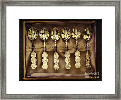 Framed Print featuring the photograph Spoons by Ranjini Kandasamy
