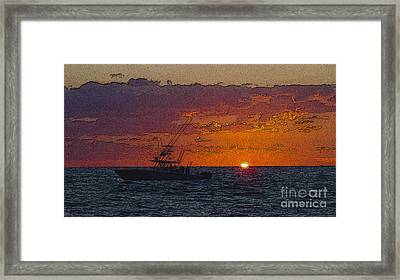 Sport Fisher Framed Print by Carey Chen