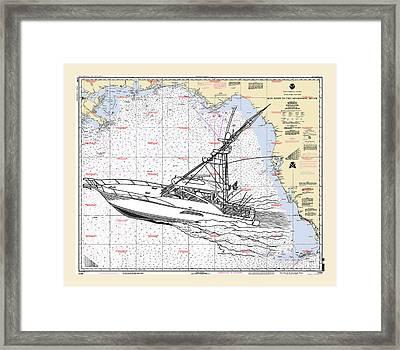 Sport Fishing Off The Gulf Coast Framed Print