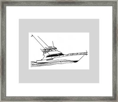 Sport Fishing Yacht Framed Print by Jack Pumphrey