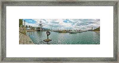 Sport Harbor And Marina, Alicante, Spain Framed Print by Panoramic Images