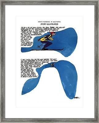 'sport Illustrated' Framed Print by Jules Feiffer