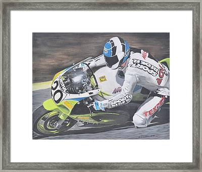 Sport Rider Framed Print by Denis Gloudeman