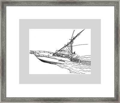 Sportfishing Yacht Framed Print