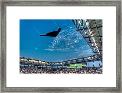 Sporting Flyover Framed Print