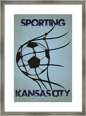 Sporting Kansas City Goal Framed Print by Joe Hamilton