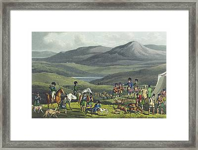 Sporting Meeting In The Highlands Framed Print
