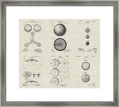 Sports Balls Patent Collection Framed Print by PatentsAsArt