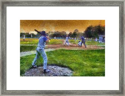 Sports Baseball On Deck Photo Art Framed Print
