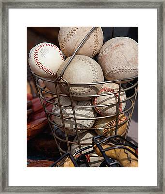 Sports - Baseballs And Softballs Framed Print by Art Block Collections