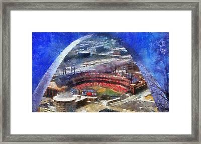 Sports Busch Stadium 02 Photo Art Framed Print