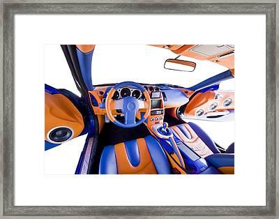 Sports Car Interior Framed Print by Ioan Panaite