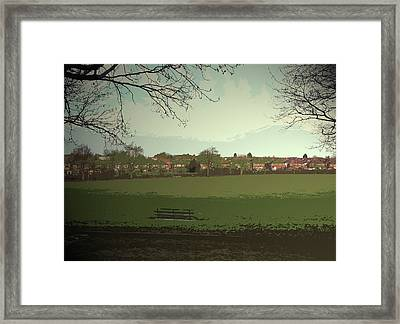 Sports Fields Near Burton Road, The Crescent Seen Here Framed Print
