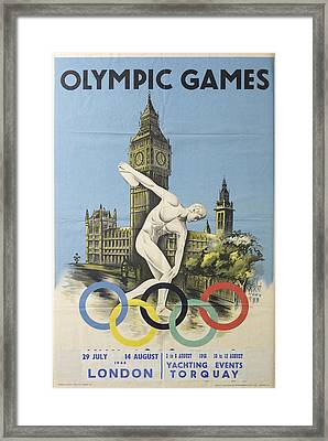 Sports Posters Framed Print by Vintage