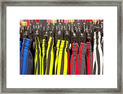 Sports Trousres Framed Print