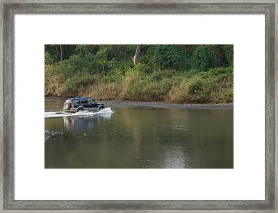 Sports Utility Vehicle Crossing Framed Print