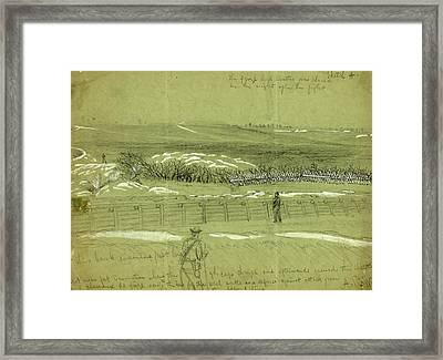 Spot Near Fort Damnation Where The 9th Corps Charged Framed Print