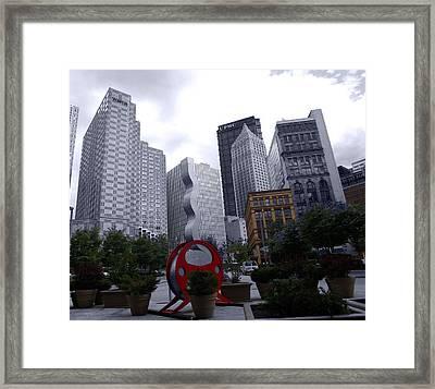 Spot Of Color Framed Print