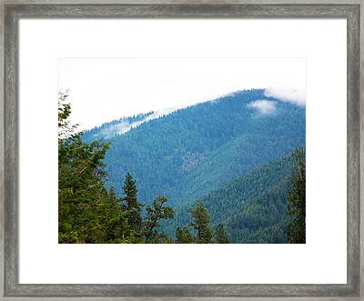Framed Print featuring the photograph Spot Of Fog by Jewel Hengen