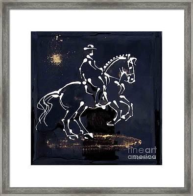 Spotlight Lusitano Framed Print by Diane Schell