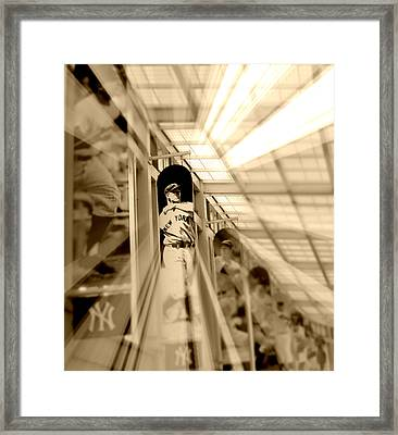 Spotlight On The Iron Horse - Sepia Framed Print by Aurelio Zucco