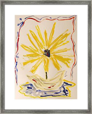 Spotlight On Yellow Framed Print by Mary Carol Williams