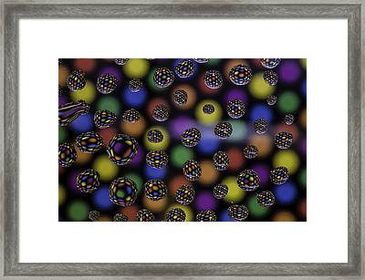 Spots And Circles Framed Print by Mark Stewart