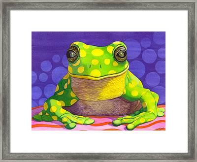 Spotted Frog Framed Print