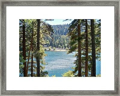 Spotted Lake - Scenic Photography - Lake Gregory California - Ai P. Nilson Framed Print