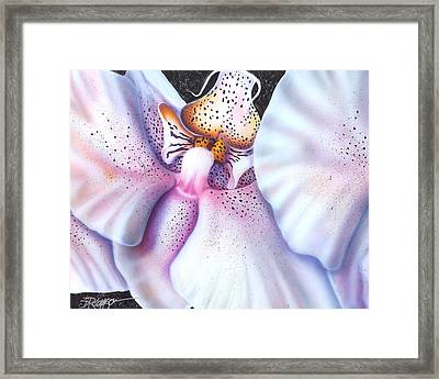 Spotted Orchid Framed Print by Darren Robinson