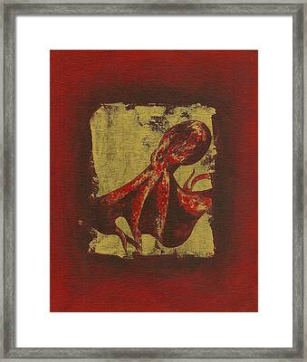 Spotted Red Octopus Framed Print