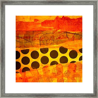 Spotted Sunset Framed Print by Nancy Merkle