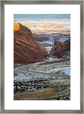 Spotted Wolf Canyon Framed Print by Jim West