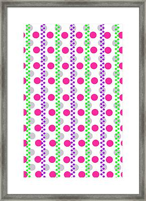 Spotty Stripe Framed Print by Louisa Hereford