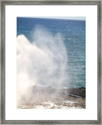 Framed Print featuring the photograph Spouting Horn II by Alohi Fujimoto