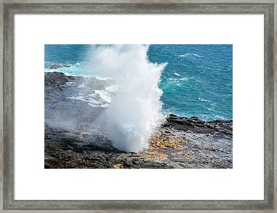 Spouting Horn In Kauai Framed Print by P S
