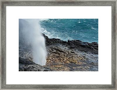 Spouting Horn Framed Print by P S
