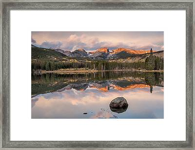 Sprague Lake Sunrise 2 Framed Print