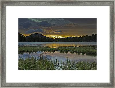 Sprague Lake Sunrise Framed Print by Tom Wilbert