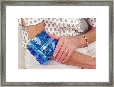 Sprained Elbow Framed Print by Lea Paterson/science Photo Library