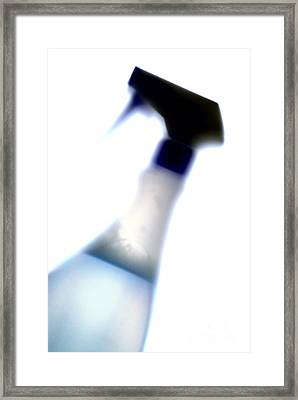 Spray Bottle Framed Print by Crown Copyright/Health & Safety Laboratory