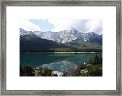 Spray Lake  Framed Print by Carolyn Ardolino